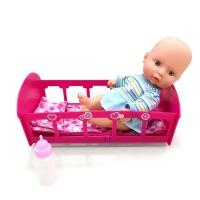 Bebelus interactiv Mini Baby cu patut si accesorii incluse