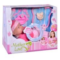 Bebelus interactiv bolnavior Mother Love, 30 cm, accesorii incluse