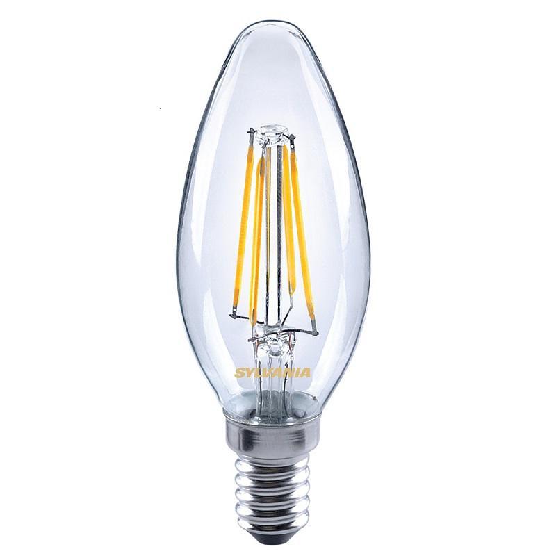 Bec LED Sylvania ToLedo Retro Candle, 4 W, 220 V, E14, 2700K, 15000 ore, 470 Lumeni, A++ shopu.ro