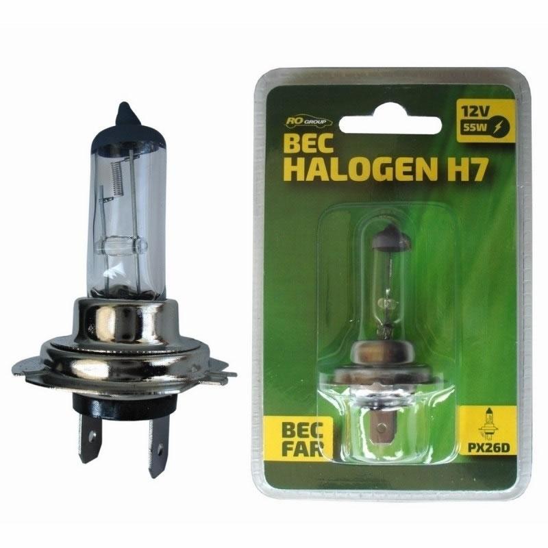 Bec auto cu halogen Ro Group H7 12V, 55W 2021 shopu.ro