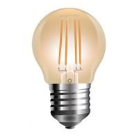 Bec cu filament LED, 4 W, 350 lm, 2200 K, soclu E27, lumina alb cald, forma G45