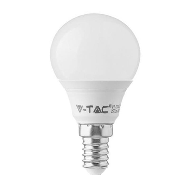 Bec economic cu LED, 4 W, 320 lm, 6400 K, soclu E14, lumina alb rece, forma P45 shopu.ro