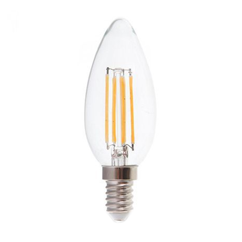 Bec economic cu filament LED, 6 W, 600 lm, 4000 K, soclu E14, lumina alb neutru 2021 shopu.ro