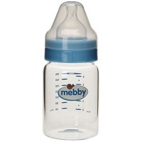 Biberon Mebby Sticla Tetina Silicon Blue, 180 ml