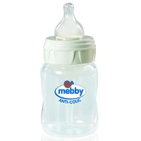 Biberon Mebby AntiColic, Step 1+2, 180ml, Silicon