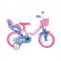 Bicicleta copii Dino Bikes, diametru roata 30 cm, model Purcelusa Peppa