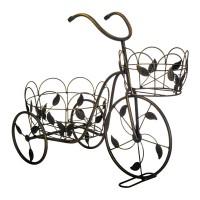Bicicleta decorativa pentru gradina, 50 x 43 cm, model frunze