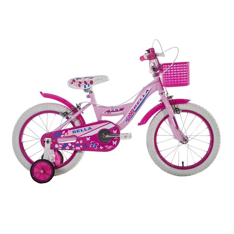 Bicicleta fete cu roti ajutatoare BMX, 16 inch, 5-8 ani, Roz/Negru 2021 shopu.ro