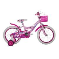Bicicleta fete cu roti ajutatoare BMX, 16 inch, 5-8 ani, Roz