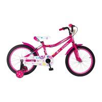 Bicicleta pentru fete Fashion Cool, 7-11 ani, 18 inch, Roz/Negru
