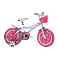 Bicicleta pentru fetite Barbie, 16 inch, maxim 60 kg, 5 ani+