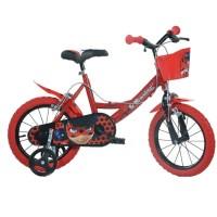 Bicicleta pentru fetite Dino Bikes Miraculos-Buburuza, 14 inch, varsta 4 ani+