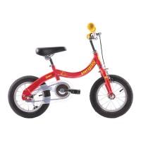 Bicicleta 2 in 1 Soim EV Pegas, roti 12 inch, jante aluminiu, 1 viteza, cadru otel, angrenj detasabil, Rosu