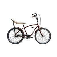 Bicicleta Strada 1 Pegas, 3 viteze, cadru aluminiu, roti 26 inch, maxim 100 kg, Visiniu
