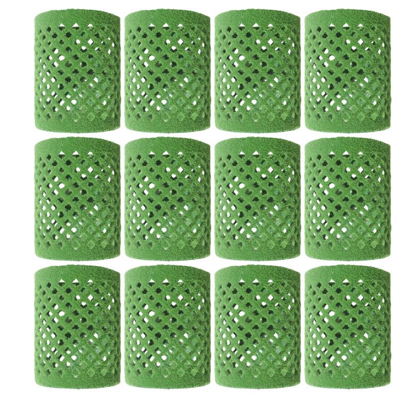 Set bigudiuri catifea Lila Rossa, 50 x 65 mm, 12 bucati, Verde 2021 shopu.ro