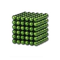 Bile magnetice antistres Tesla Ball, 5 mm, 216 piese, verde