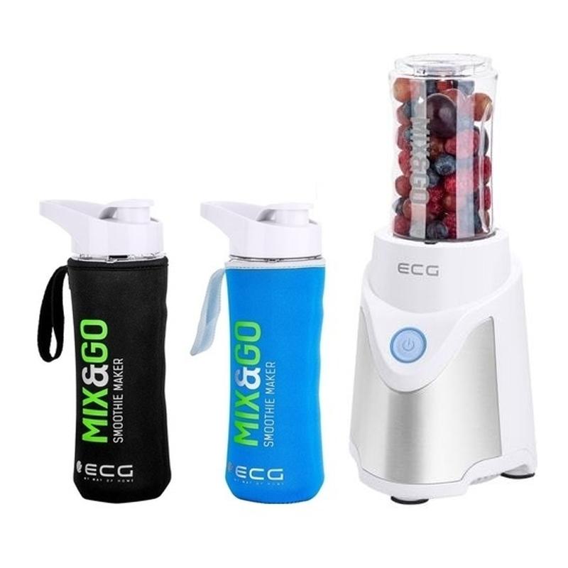 Blender ECG Mix & Go, 500 W, 570/400 ml, functie implus, 3 recipiente 2021 shopu.ro