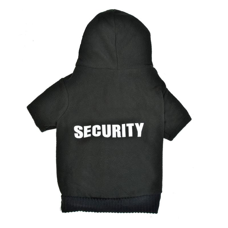 Bluza groasa pentru catei, marime M, imprimeu Security 2021 shopu.ro