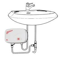 Boiler electric instantaneu GEYSER In-line, chiuveta
