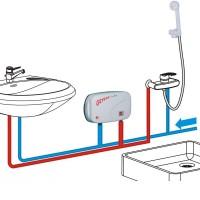 Boiler electric instantaneu GEYSER In-line, dus si chiuveta