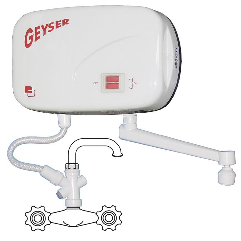Boiler electric instantaneu GEYSER, chiuveta 2021 shopu.ro