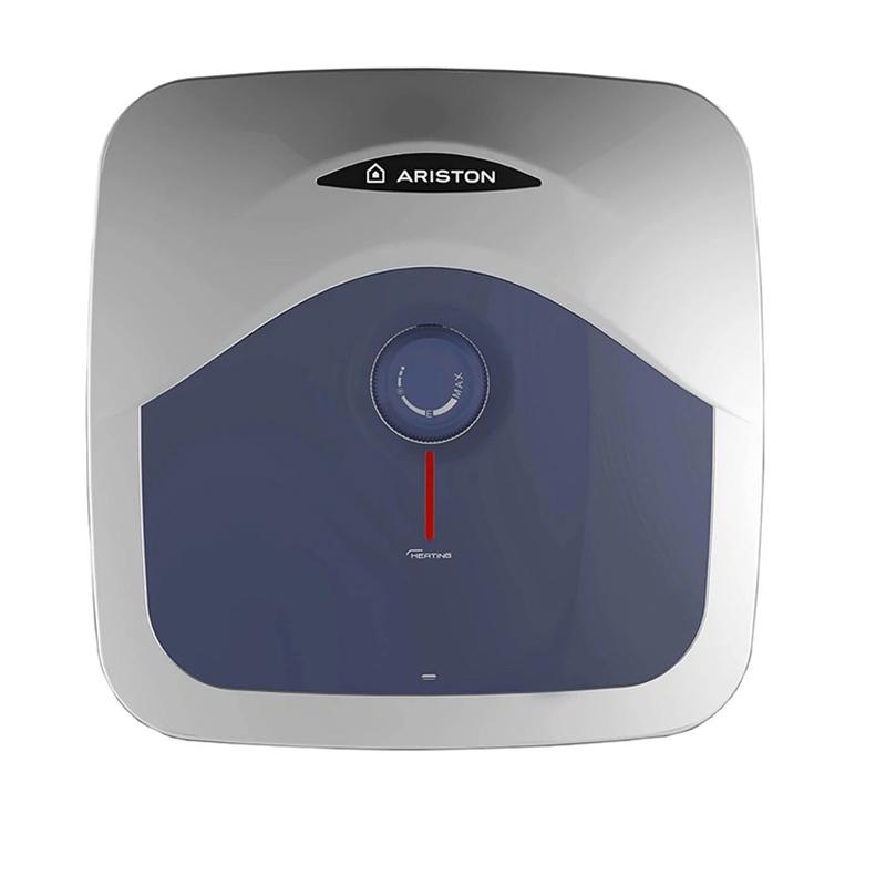 Boiler electric Ariston Blu R, 10 l, 1200 W, 8 bar, 36 x 36 x 26.7 cm, reglaj temperatura, Alb/Albastru shopu.ro