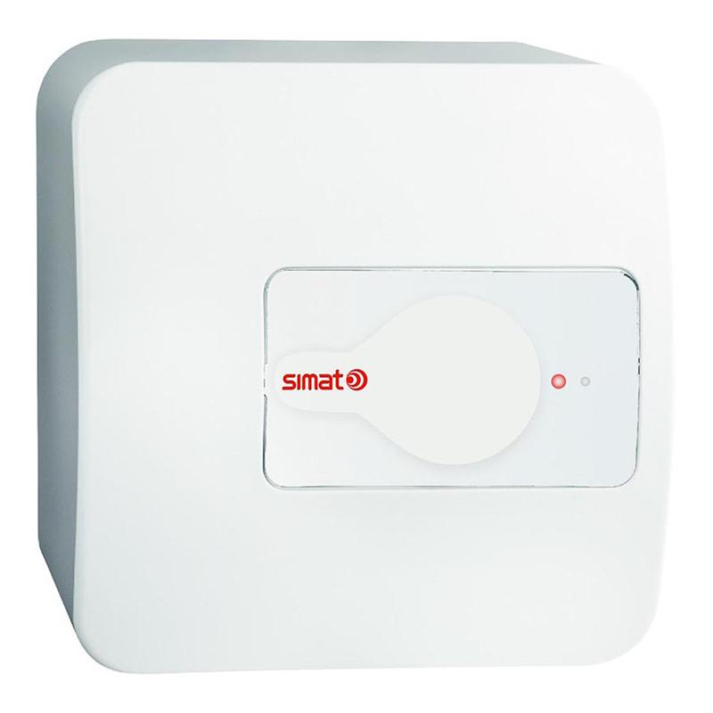 Boiler electric Simat, 1200 W, 10 l, 8 bar, 36 x 36 x 25 cm, Alb shopu.ro