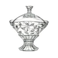Bomboniera cu picior Laurus Rcr Cristal, 92 mm, sticla cristalina, Transparent