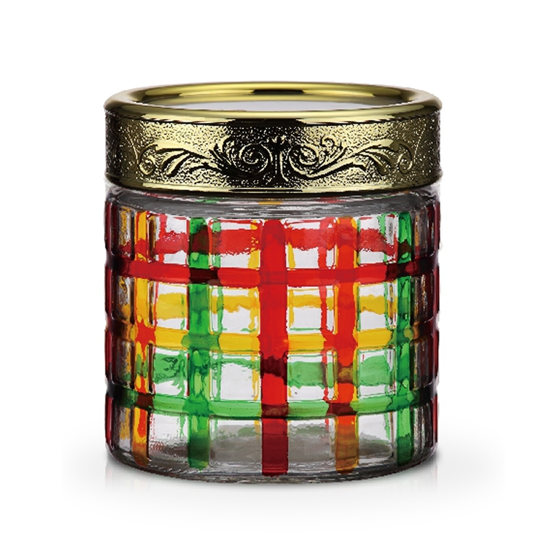 Borcan din sticla Peterhof, 850 ml, multicolor