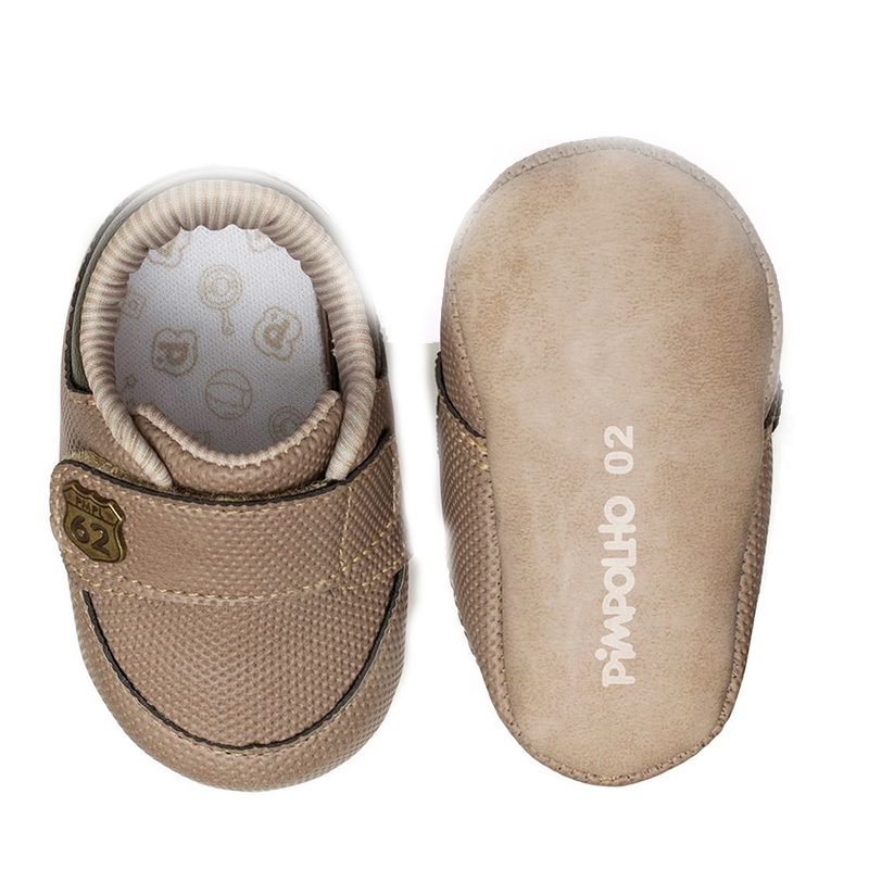 Botosei Pimpolho, marimea 17, 10 cm, inchidere velcro, 4-6 luni, Maro