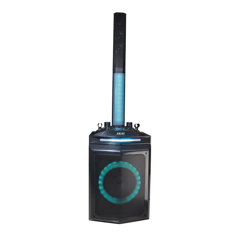 Boxa activa Akai, Bluetooth 5.0, 150 W, USB/AUX-IN, radio FM 2021 shopu.ro