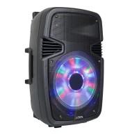 Boxa activa Party, 400 W, Bluetooth, microfon, radio FM, acumulator inclus