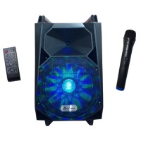 Boxa activa tip troler Ailiang, bluetooth, ciititor stick USB, card MicroSD, radio FM, microfon wireless, telecomanda