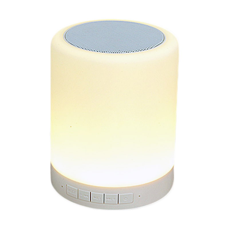 Boxa bluetooth LED, 2 W, 10 m, Alb