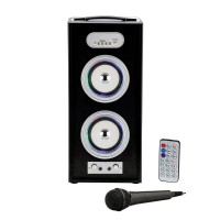 Boxa bluetooth i-JMB, 20 W, 4000 mAh, afisaj LED, telecomanda, microfon inclus