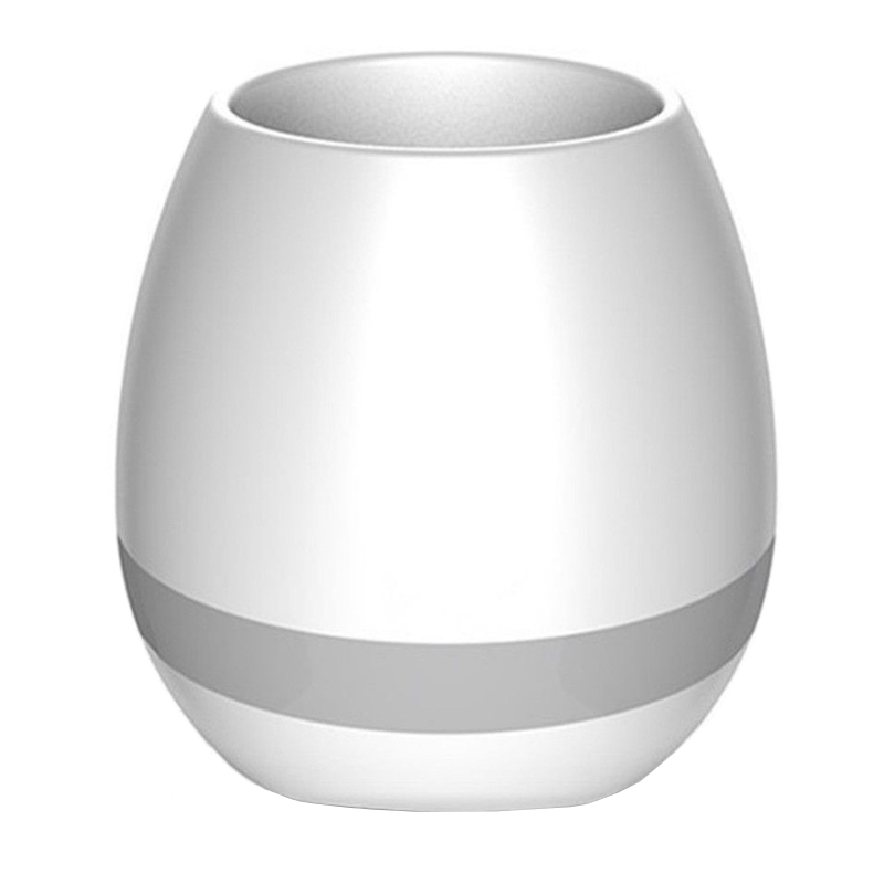 Boxa bluetooth tip ghiveci Smart Flowerpot, 5 W, 1200 mAhm LED 2021 shopu.ro