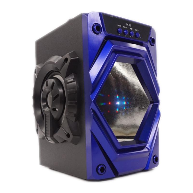 Boxa portabila bluetooth XY-23, lumini LED, slot card SD, USB 2021 shopu.ro