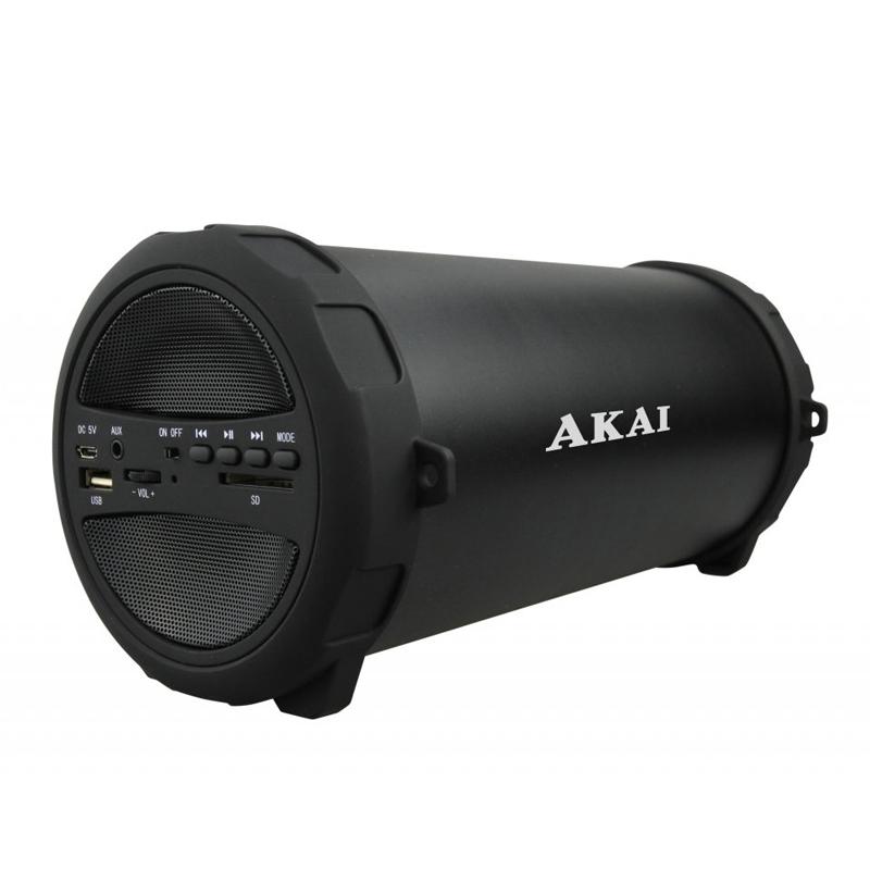 Boxa portabila Bluetooth Akai, 10 W, USB, 10 m, 1 x Aux, radio FM, 1500 mAh, acumulator 2021 shopu.ro