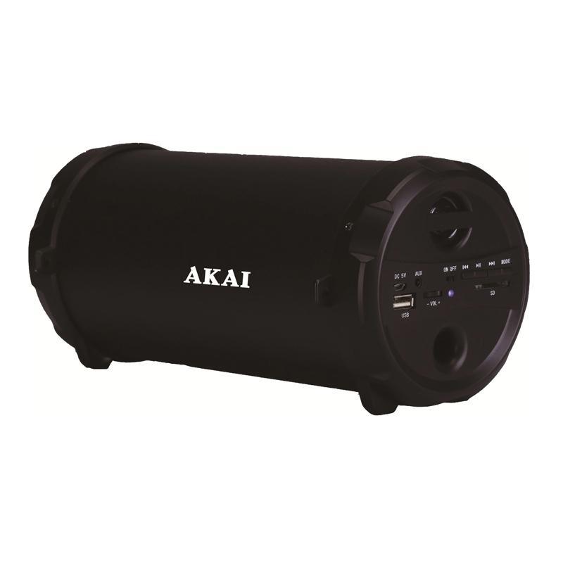 Boxa portabila Bluetooth Akai, 5 W, USB, 10 m, 1 x Aux, banda FM, 1000 mAh, acumulator 2021 shopu.ro