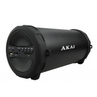 Boxa portabila Bluetooth Akai, 10 W, USB, 10 m, 1 x Aux, radio FM, 1500 mAh, acumulator