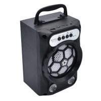 Boxa portabila Bluetooth MH-21BT, 1200 mAh, LED, AUX, USB, suport cardSD, radio FM, Negru