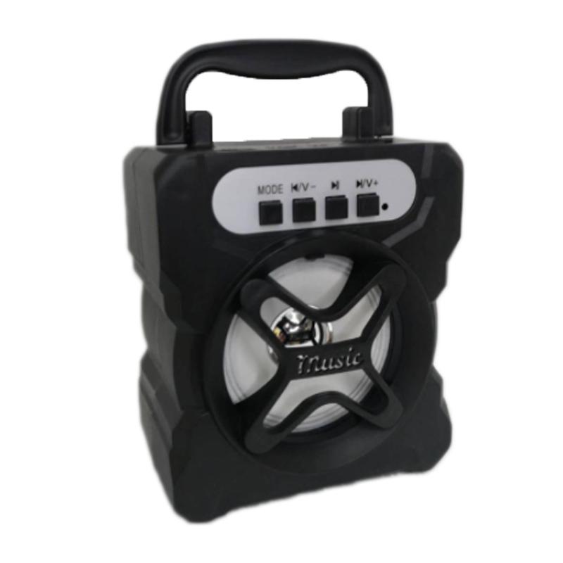 Boxa portabila CL-91B, 5 W, 1200 mAh, suport card TF, radio FM, USB, Negru 2021 shopu.ro