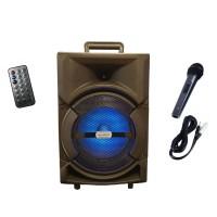 Boxa portabila Lige A84-DT, 15 W, USB, intrare cardSD, telecomanda, microfon