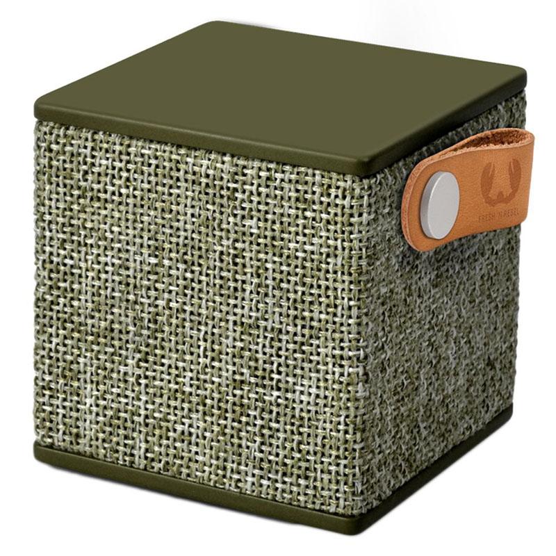 Boxa portabila Rockbox Cube Fabriq Fresh & Rebel, 3 W, 500 mAh, bluetooth, jack 3.5 mm, Kaki 2021 shopu.ro