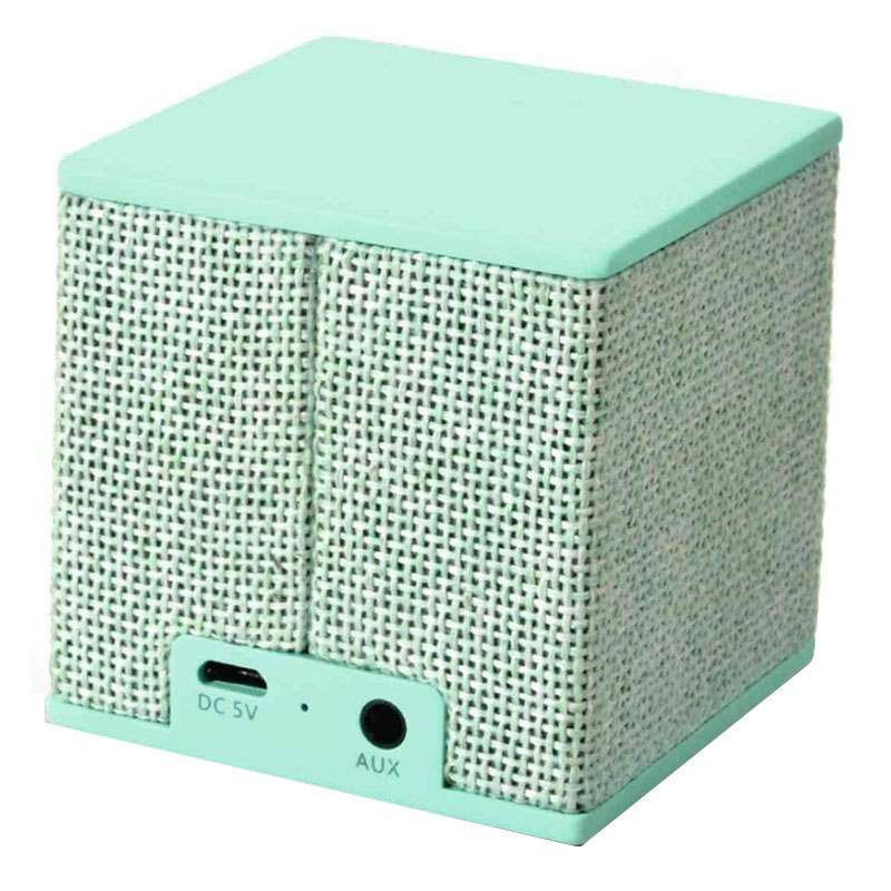 Boxa portabila Rockbox Cube Fabriq Fresh & Rebel, 3 W, 500 mAh, bluetooth, jack 3.5 mm, Verde
