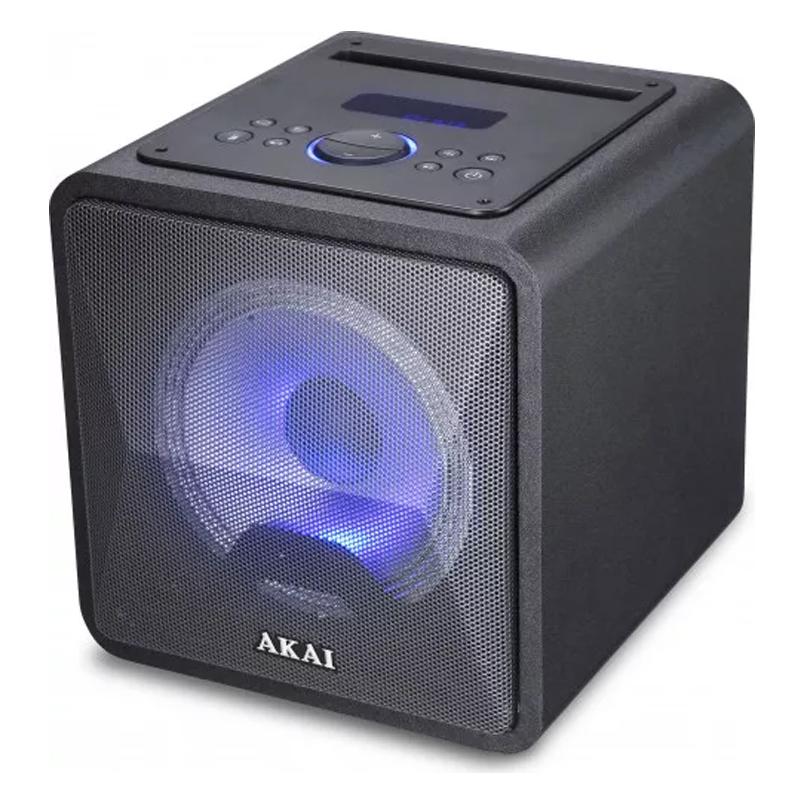 Boxa portabila activa Akai, 20 W, Bluetooth 5.0, USB, radio FM, cardSD, telecomanda 2021 shopu.ro