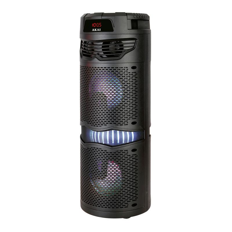 Boxa portabila activa Akai, Bluetooth 5.0, 40 W, 2000 mAh, Radio FM, 1 x USB, LED 2021 shopu.ro