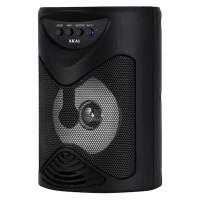 Boxa portabila activa Akai, Bluetooth 4.2, Radio FM, lumini LED, USB, suport cardSD, acumulator