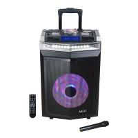 Boxa portabila activa DJ Akai, 120 W, Bluetooth, functie karaoke, USB, Mixer, intrare chitara