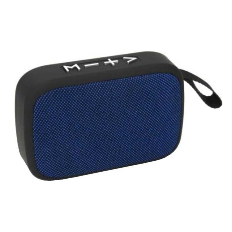 Boxa portabila bluetooth Akai, 3 W, USB, 300 mAh, functie Twins Connection, Albastru 2021 shopu.ro